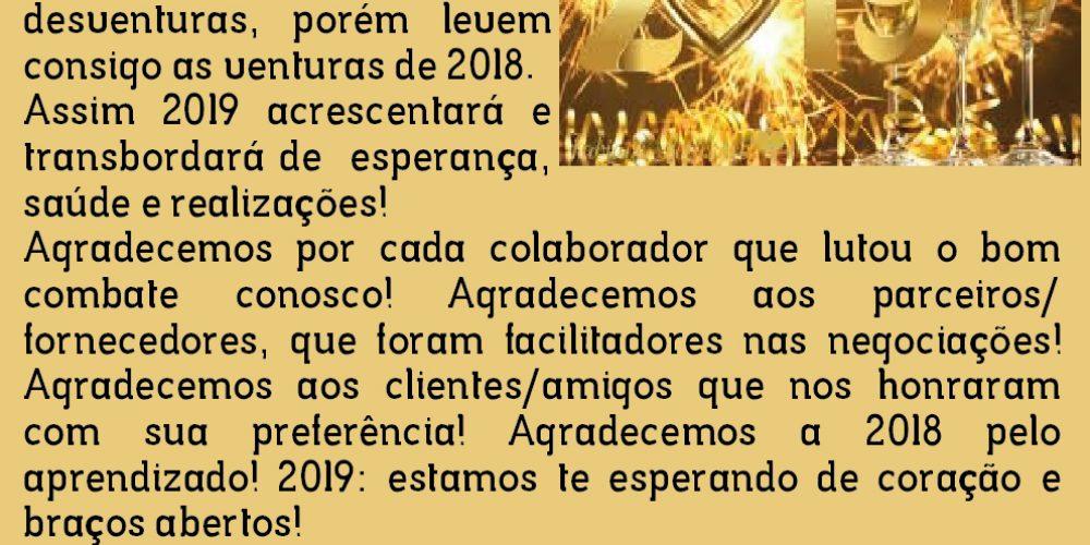 Feliz 2019 deseja a turma da Instaltec