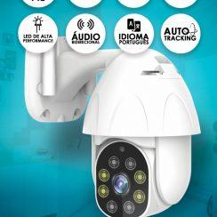 Câmera Interna e Externa Wi Fi INOVA  Mini Speed Dome