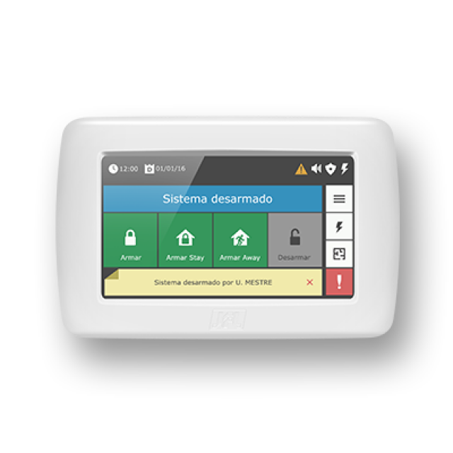 Teclado TS-400-tecnologia touchscreen  jfl